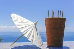 Umbrella in Thailand for wedding ceremony Stock Images