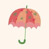 Umbrella theme elemets vector,eps Stock Images