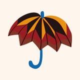 Umbrella theme elemets vector,eps Royalty Free Stock Images