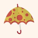 Umbrella theme elemets vector,eps Royalty Free Stock Photography