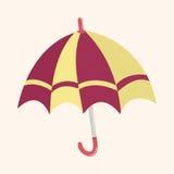 Umbrella theme elemets vector,eps Royalty Free Stock Photos