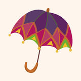 Umbrella theme elemets vector,eps Stock Photography