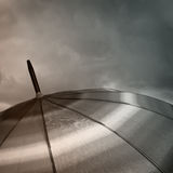 Umbrella top with raindrops Stock Image