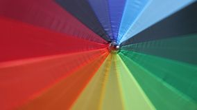 Umbrella top spinning. Colored umbrella top spinning discontinuous stock footage