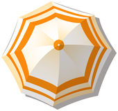 Umbrella from top view Royalty Free Stock Photo