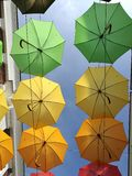 Umbrella. S in the outlet Neumünster Germany royalty free stock photos