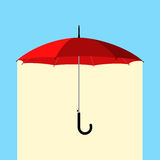 Umbrella under rain Royalty Free Stock Images