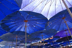 Umbrella underneath Royalty Free Stock Image