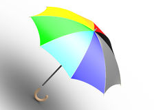 Umbrella (unfolded, ranbow colored). Umbrella (3D, unfolded, ranbow colored Royalty Free Stock Photography