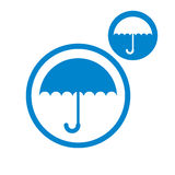 Umbrella vector icon isolated on white backgound Royalty Free Stock Photo