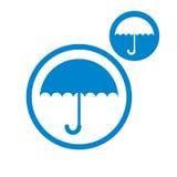 Umbrella vector icon isolated on white backgound Royalty Free Stock Photo