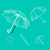 Umbrella vector icon. Rain protection symbol. Umbrella vector icon. Set of Umbrella sign icon. Rain protection symbol vector illustration