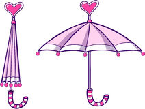 Umbrella Vector Illustration. Cute Pink Umbrella Vector Illustration Royalty Free Stock Photo