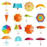 Umbrella vector set. Royalty Free Stock Photo