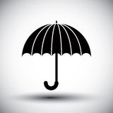 Umbrella vector simple single color icon. Stock Photography