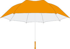 Umbrella in vectors. Isolated orange umbrella in vectors Royalty Free Stock Image
