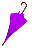 Umbrella - Violet isolated Stock Photos