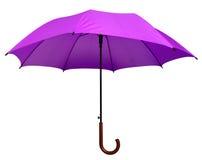 Umbrella - Violet isolated Stock Image