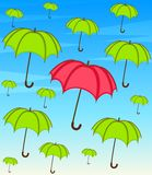 Umbrella with wallpaper design Stock Photos