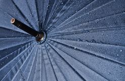Umbrella in water drops.  Stock Images