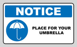 Umbrella with water drops. Rain protection symbol, wet umbrellas. Vector illustration. Stock Images