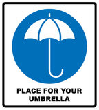 Umbrella with water drops. Rain protection symbol, wet umbrellas. Vector illustration. Royalty Free Stock Photos