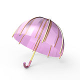 Umbrella on a white background. 3d digitally rendered illustration royalty free illustration