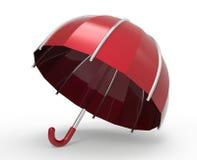 Umbrella on a white background. 3D illustration. Umbrella on a white background. 3d digitally rendered illustration royalty free illustration