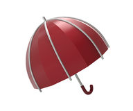 Umbrella on a white background. 3D illustration. Umbrella on a white background. 3d digitally rendered illustration Royalty Free Stock Photos