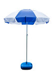 Umbrella, white, blue Stock Photo
