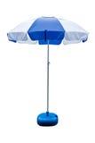 Umbrella, white, blue Stock Photo