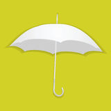 Umbrella from white paper on a color background. Vector illustration Royalty Free Stock Image