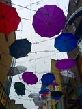 Umbrella in the wires Royalty Free Stock Photography