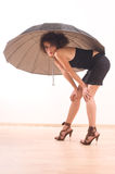 Umbrella and woman Royalty Free Stock Images