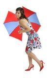 Umbrella Woman Stock Images