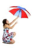 Umbrella Woman Royalty Free Stock Photos