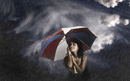 Umbrella Woman Royalty Free Stock Photos