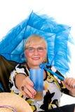 Umbrella woman Stock Image