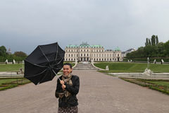 Umbrella Woman tourist Royalty Free Stock Image