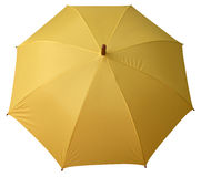 Umbrella yellow opened Royalty Free Stock Photo