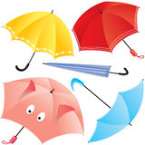Umbrellas. Vector collection of multi-coloured umbrellas vector illustration