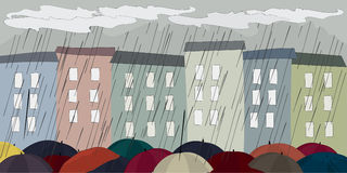 Umbrellas royalty free illustration