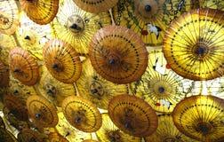 Umbrellas. Many Thai hand painting umbrellas Stock Photo