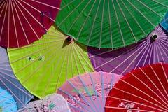 Umbrellas. Colorful japanese umbrellas Stock Photography