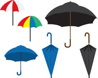 Umbrellas Stock Photography