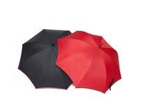 Umbrellas. Red and black umbrellas Stock Image