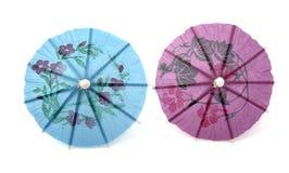 Umbrellas. Two decorative umbrellas for refreshments Stock Images