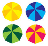 Umbrellas. Nice illustration umbrellas on isolated background Royalty Free Stock Photos