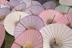Umbrellas. Thai handmade umbrellas Royalty Free Stock Image