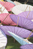 Umbrellas. Thai handmade umbrellas Royalty Free Stock Photography
